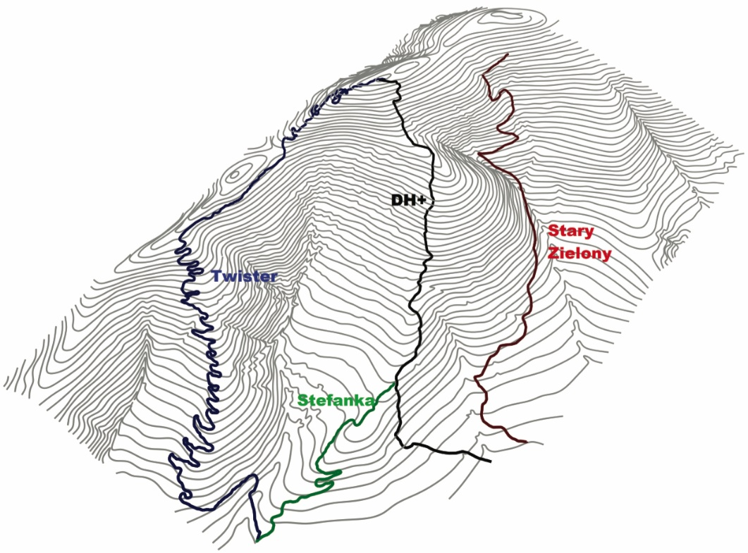 Mapa traili. źródło: endurotrails.pl
